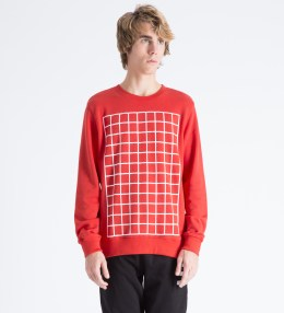 Hero's Heroine Red Grid Sweater Picture