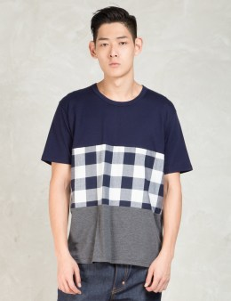 Aloye Navy Color Block Shirt Picture