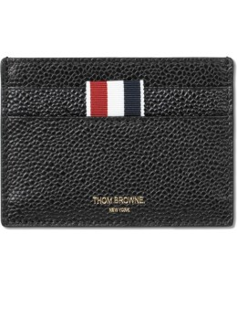 THOM BROWNE Pebble Grain Leather Single Card Holder Picture