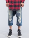 MOSTLY HEARD RARELY SEEN Distressed Enzo Drop-crotch Jeans Picutre