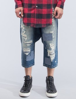 MOSTLY HEARD RARELY SEEN Distressed Enzo Drop-crotch Jeans Picture