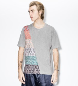 Paul Smith Grey Paisley Panelled T-Shirt Picture