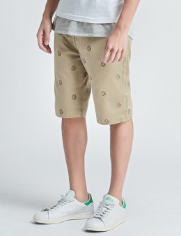 Billionaire Boys Club Beige Helmet Emb Chino Shorts Picture