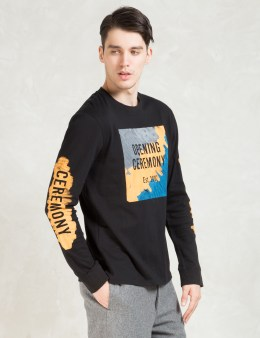 Opening Ceremony Black Marker Logo L/S T-Shirt Picture