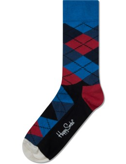 Happy Socks Navy Argyle Socks Picture