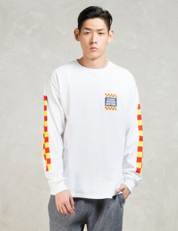 10.DEEP White L/S Alert T-Shirt Picture