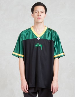 Stussy V-neck Football T-Shirt Picture