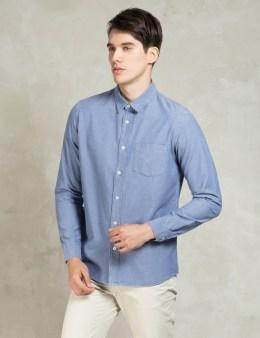 A.P.C. Indigo Delave Chamise Emile Shirt Picture