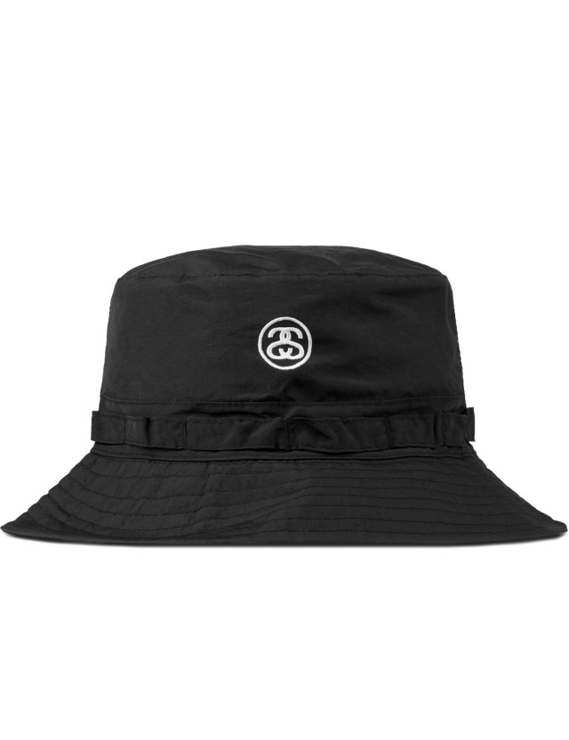 Stussy Black Packable Bucket Hat | HBX.