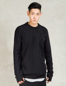 11 By Boris Bidjan Saberi Black Cr1 Block Cut Sweatshirt Picture