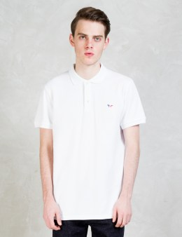 MAISON KITSUNE Tricolor Fox Patch Polo Picture