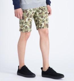 HUF Olive Duck Camo Twill Walk Shorts Picture