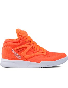 Reebok Orange Pump Omni Lite Tech Sneakers Picture