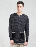 VALLIS BY FACTOTUM Crewneck Check Cardigan Picture