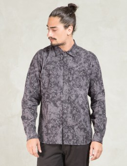 White Mountaineering Charcoal Layered Camoflage Print Shirt Picture