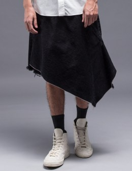 FACETASM Asymmetrical Kilt Shorts Picture