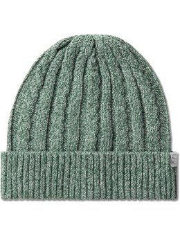 DELUXE Green Feather Beanie Picture