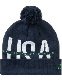 10.DEEP Navy USA Sport Knit Beanie Picture