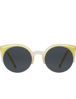 SUPER BY RETROSUPERFUTURE Lucia Surface Lime Sunglasses Picture