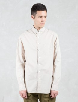 wings + horns Monogram Poplin L/S Button Down  Shirt Picture