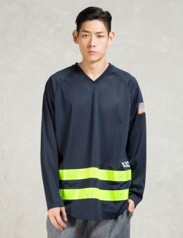 10.DEEP Navy L/S Fd Site & Sport Jersey T-Shirt Picture