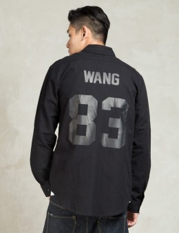 LES (ART)ISTS Black WANG83 Football Oxford Shirt Picture