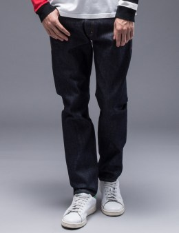 "BEDWIN & THE HEARTBREAKERS ""Charls"" Tapered Fit Raw Denim Pants Picture"