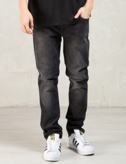 Nudie Jeans Black Black Heat Tight Long John Jeans Picture