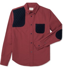 Band of Outsiders Red L/S Button Down Shirt Picture