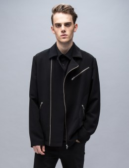 McQ Alexander McQueen Side Circle Patch Biker Jacket Picture