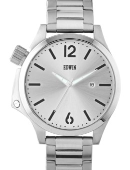 EDWIN Watch Silver With Silver Dial Brook Picture