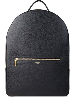 THOM BROWNE Pebble Grain Leather Backpack Picutre