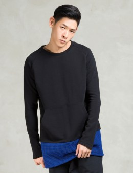 BIBI CHEMNITZ Black Half Wool Sweatshirt Picture