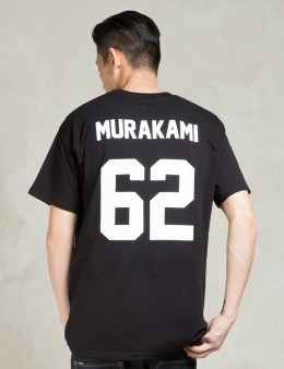 LES (ART)ISTS Black MURAKAMI62 Football T-Shirt Picture