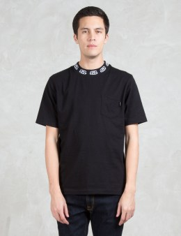 Stussy Jacquard Collar Crewneck S/S T-Shirt Picture