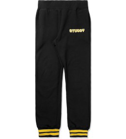 Stussy Black Stripe Cuff Pants Picture
