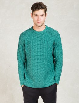 Stussy Mint Fishermans Cable Sweater Picture