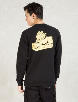 RIPNDIP Black Irule Crew Sweater Picture