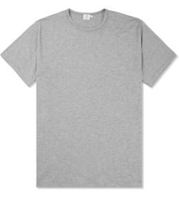 SUNSPEL Grey Melange Crewneck S/S T-Shirt Picture
