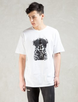 Black Scale White Wooden Savior T-shirt Picture