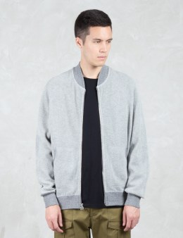 wings + horns Honeycomb Knit Bomber Jacket Picture
