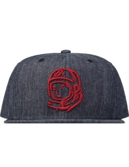 Billionaire Boys Club Blue Indigo Denim Helmet Logo Snapback Picture