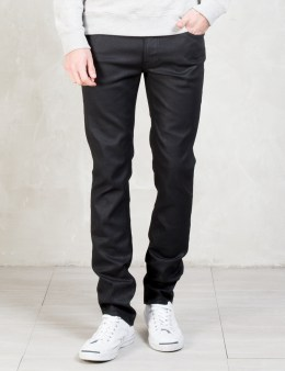Nudie Jeans Back 2 Black Thin Finn Jeans Picture
