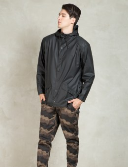RAINS Black Jacket Picture