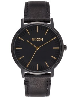 Nixon Porter Leather with Gold Picture