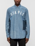Staple Patchwork Logo Woven Shirt Picture