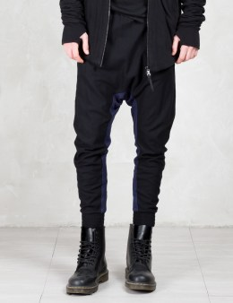 11 By Boris Bidjan Saberi 2 Tone Patch Drop Crotch Pants Picture