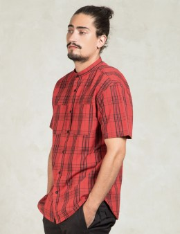 10.DEEP Red Hamilton Stand Collar Shirt Picture