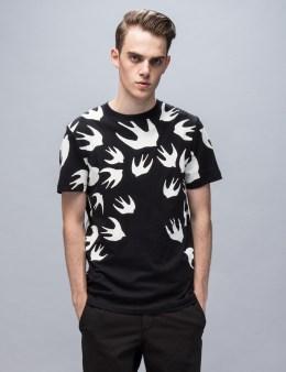 McQ Alexander McQueen S/S Overprint Swallow T-shirt Picture