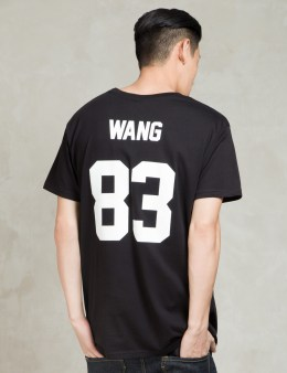 LES (ART)ISTS Black WANG83 Football T-Shirt Picture